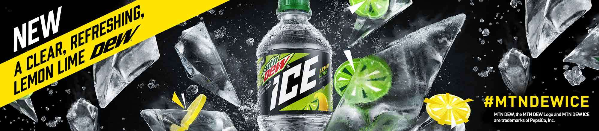 NEW!! A clear, refreshing, lemon-lime DEW!